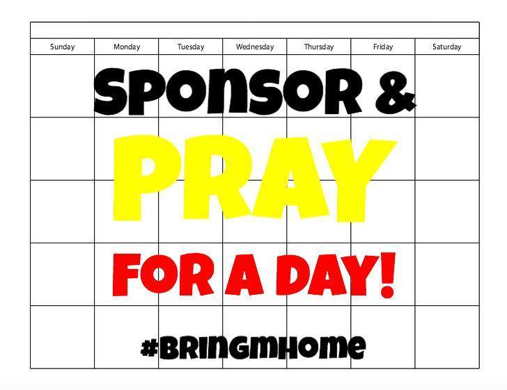 Sponsor and Pray for a Day!